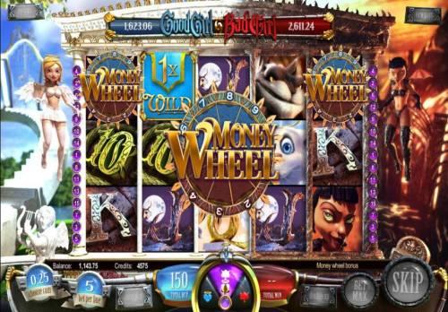 Good Girl Bad Girl Big Bonus Slots money wheel bonus feature triggered
