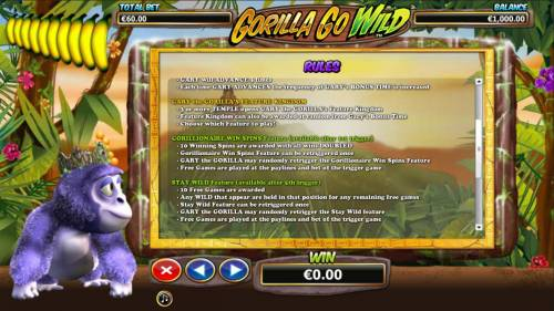 Gorilla Go Wild review on Big Bonus Slots