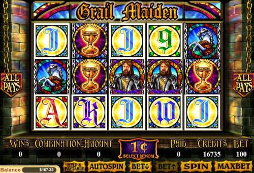 Grail Maiden review on Big Bonus Slots