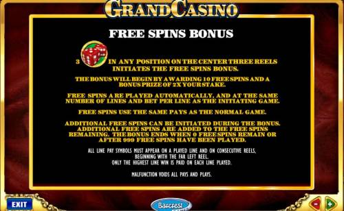 Grand Casino review on Big Bonus Slots