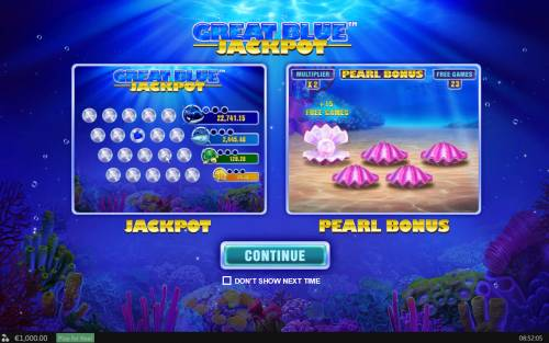 Great Blue Jackpot review on Big Bonus Slots