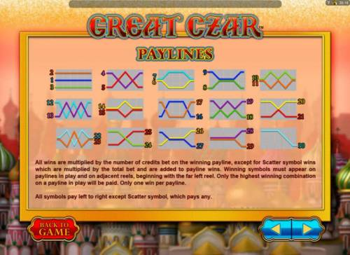 Great Czar review on Big Bonus Slots