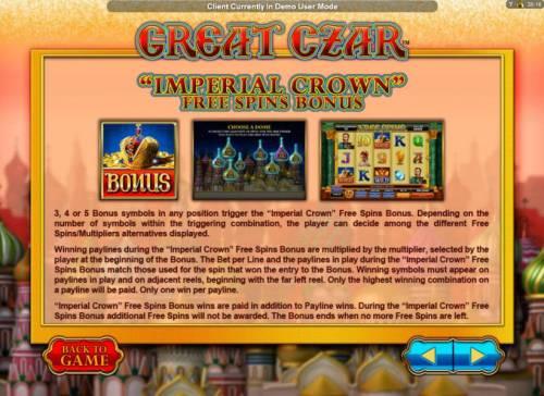 Great Czar review on Big Bonus Slots