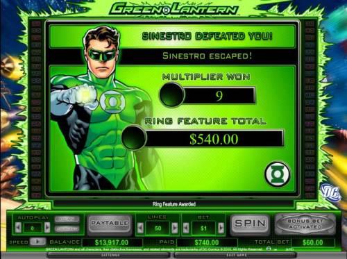 Green Lantern review on Big Bonus Slots