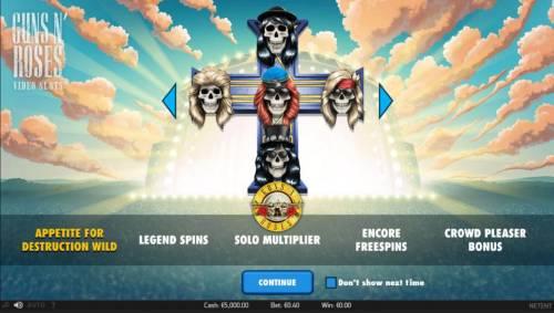 Guns N' Roses review on Big Bonus Slots