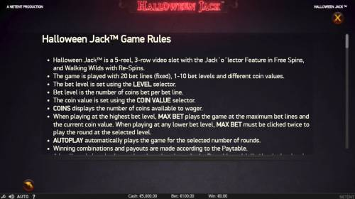 Halloween Jack review on Big Bonus Slots