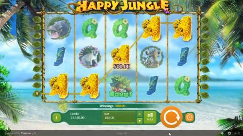 Happy Jungle review on Big Bonus Slots