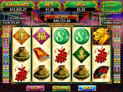 Happy Golden Ox of Happieness review on Big Bonus Slots