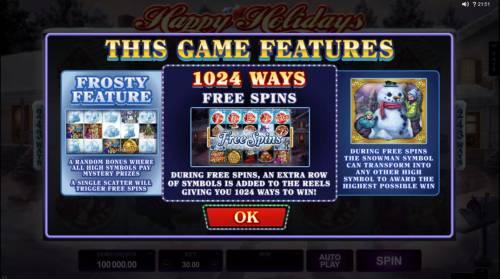 Happy Holidays review on Big Bonus Slots