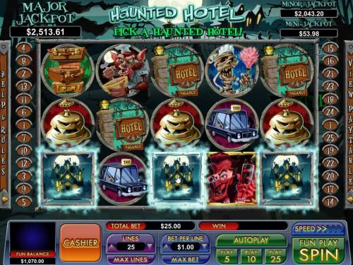 Haunted Hotel review on Big Bonus Slots