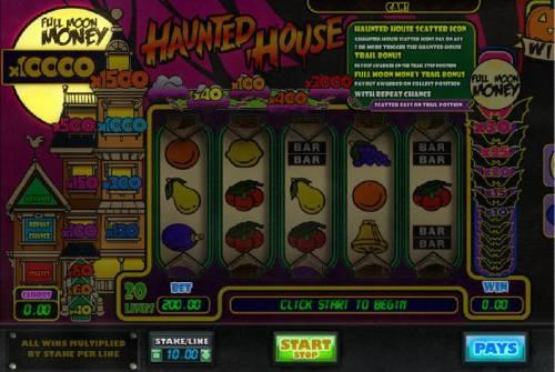 Haunted House review on Big Bonus Slots