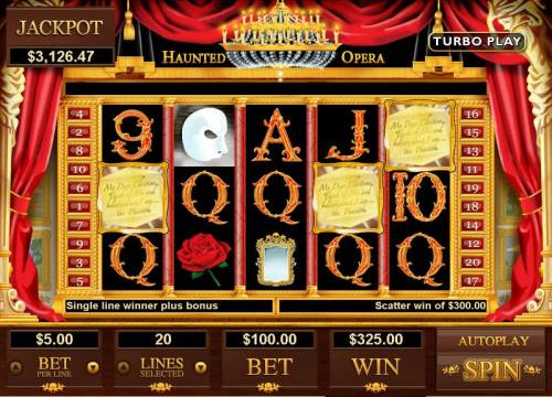 Haunted Opera review on Big Bonus Slots