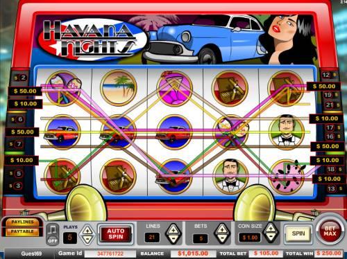 Havana Nights Big Bonus Slots Multiple winning paylines