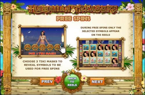 Hawaiian Treasure Big Bonus Slots during free spins only the selected symbols appear on the reels