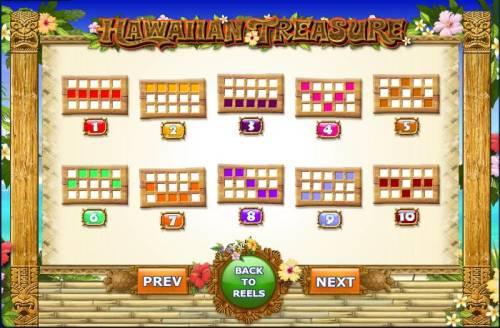 Hawaiian Treasure Big Bonus Slots the game has 10 pay lines