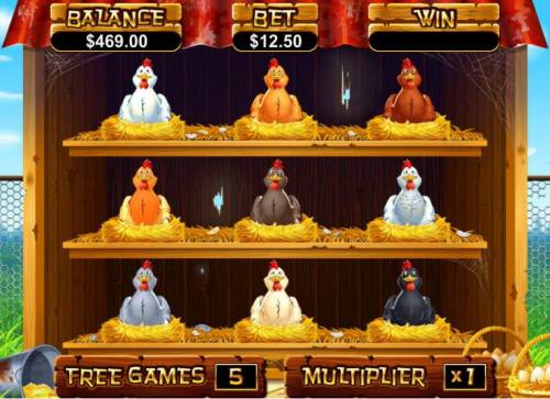 Hen House Big Bonus Slots pick a hen to earn a prize