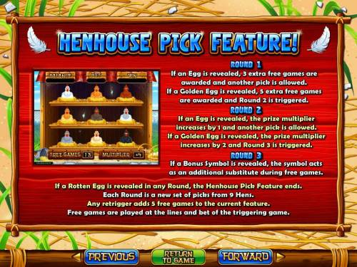 Hen House Big Bonus Slots Henhouse Pick Feature Rules