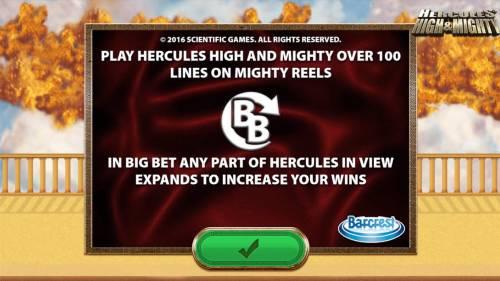 Hercules High & Mighty review on Big Bonus Slots