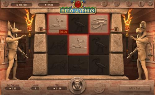 Hero Glyphics review on Big Bonus Slots