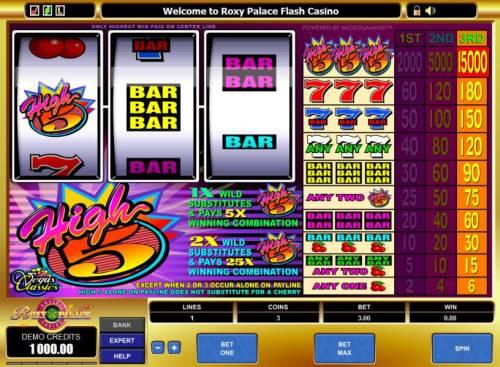 High 5 review on Big Bonus Slots