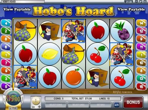 Hobo's Hoard review on Big Bonus Slots