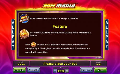 Hoffmania review on Big Bonus Slots