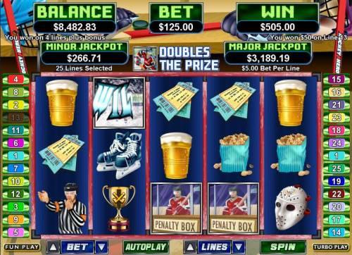 Hockey Hero review on Big Bonus Slots