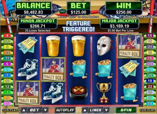 Hockey Hero Big Bonus Slots Bonus round
