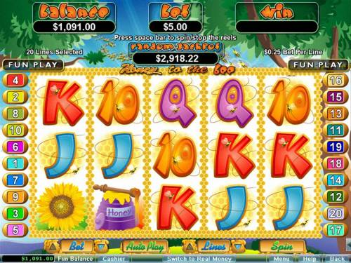 Honey To The Bee review on Big Bonus Slots