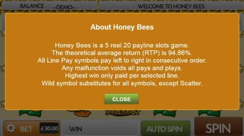 Honey Bees review on Big Bonus Slots