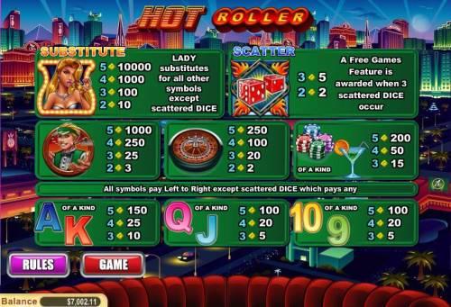 Hot Roller review on Big Bonus Slots