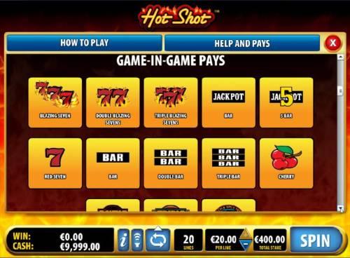 Hot Shot review on Big Bonus Slots