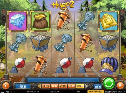 Hugo 2 Big Bonus Slots Main Game Board