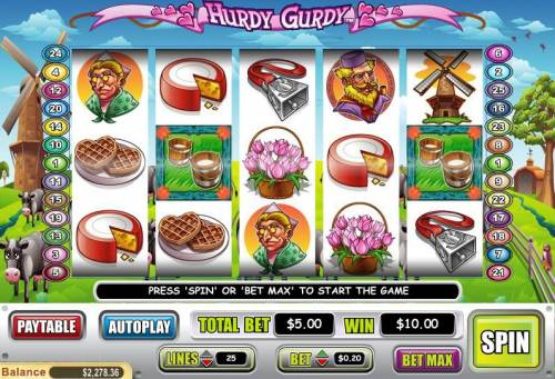Hurdy Gurdy review on Big Bonus Slots