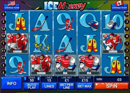 Ice Hockey review on Big Bonus Slots