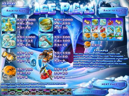 Ice Picks review on Big Bonus Slots