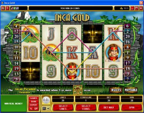 Inca Gold review on Big Bonus Slots