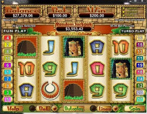 Incan Goddess review on Big Bonus Slots