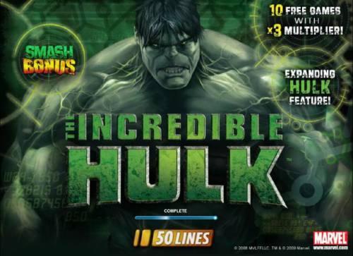 The Incredible Hulk 50 Lines review on Big Bonus Slots