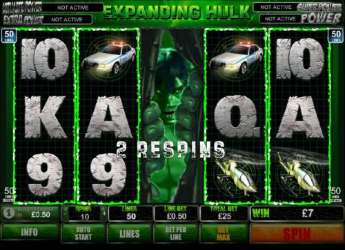 The Incredible Hulk 50 Lines review on Big Bonus Slots