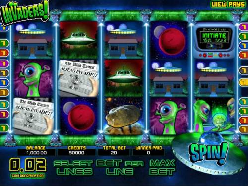 Invaders review on Big Bonus Slots