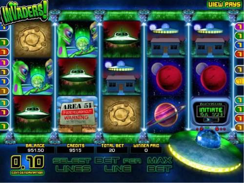 Invaders review on Big Bonus Slots