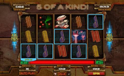 Invasion Big Bonus Slots A winning Five of a Kind