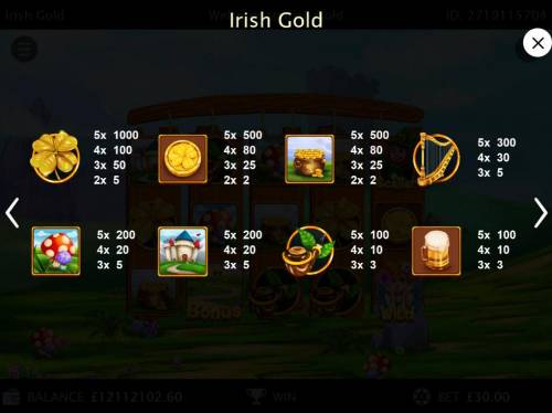 Irish Gold review on Big Bonus Slots