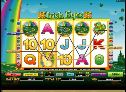 Irish Eyes review on Big Bonus Slots