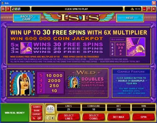 Isis review on Big Bonus Slots