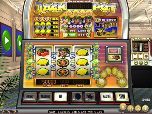 Jackpot 6000 review on Big Bonus Slots