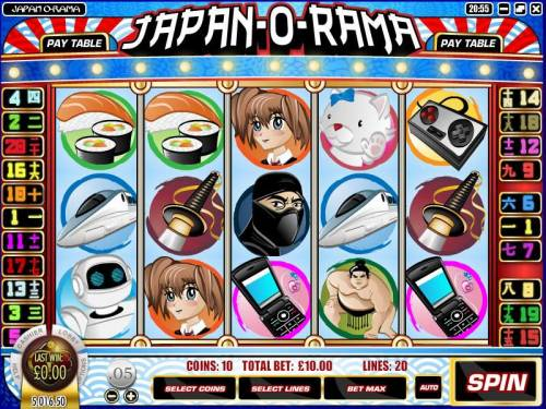 Japan-O-Rama review on Big Bonus Slots