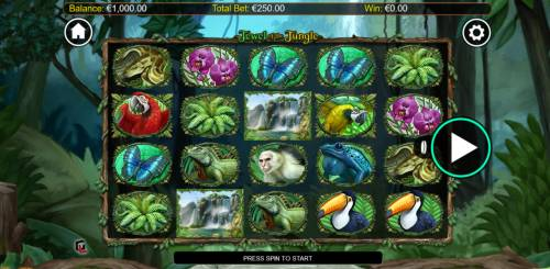 Jewel of the Jungle Big Bonus Slots Main Game Board