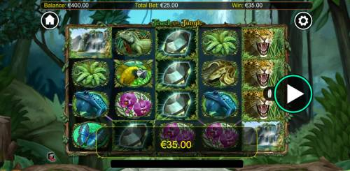 Jewel of the Jungle Big Bonus Slots A winning four of a kind